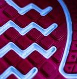 Sola da sapata, pontos, apertos de um tênis de corrida foto de stock royalty free