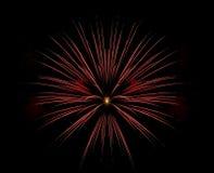 Sola explosión roja del fuego artificial Fotos de archivo libres de regalías