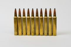 Sola fila de balas Imagen de archivo