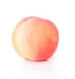 Sola fruta del melocotón Imagen de archivo libre de regalías