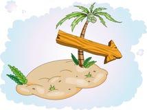 Sola isla fabulosa del tesoro libre illustration