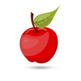 Sola manzana del vector en el fondo blanco Ilustración del Vector
