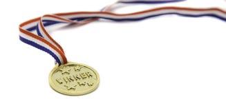 Sola medalla del ganador del oro Imagen de archivo libre de regalías