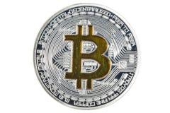 Sola moneda de BTC Bitcoin Imagen de archivo