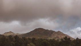 Sola montagna fotografie stock