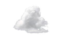 Sola nube blanca de la naturaleza aislada en el fondo blanco imagenes de archivo