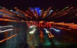 Sola palabra Vision fotografía de archivo libre de regalías