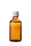 Sola pequeña botella con la droga Imagen de archivo libre de regalías