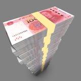 Sola pila enorme de chino 100 cuentas de RMB Fotos de archivo