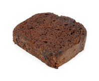 Sola rebanada de torta de chocolate Imagen de archivo