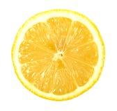 Sola sección representativa del limón foto de archivo