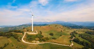Sola turbina de viento Fotografía de archivo