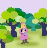 Solamente en el bosque stock de ilustración