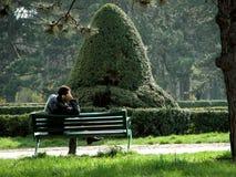 Solamente en el parque Imagenes de archivo