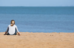 Solamente en la playa fotos de archivo