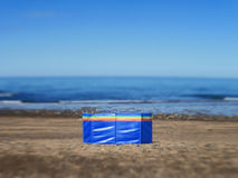 Solamente en la playa Fotos de archivo libres de regalías