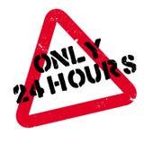 Solamente 24 horas de sello de goma Imágenes de archivo libres de regalías