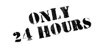 Solamente 24 horas de sello de goma Fotografía de archivo