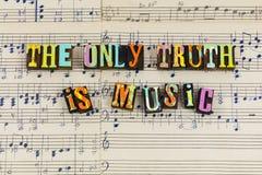 Solamente la verdad es música imágenes de archivo libres de regalías
