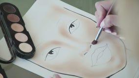 Solamente manos: retrato para el artista de maquillaje de entrenamiento - haga frente a la carta metrajes
