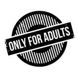 Solamente para el sello de goma de los adultos Imágenes de archivo libres de regalías