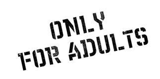 Solamente para el sello de goma de los adultos Foto de archivo libre de regalías