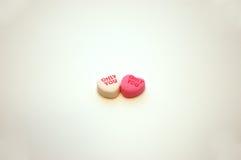 Solamente usted corazones de la conversación del día de tarjeta del día de San Valentín Foto de archivo