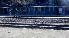 Solan railway station. This is smallest railway station in india Stock Photo