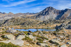 Solana lakes in the Lake Pessons, Andorra Royalty Free Stock Photography