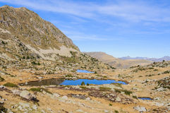 Solana lakes in the Lake Pessons, Andorra Stock Photo