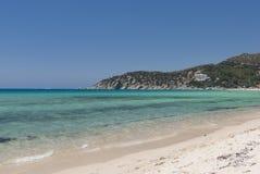 海滩撒丁岛solanas 库存照片
