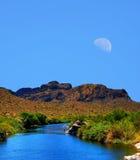 Solankowa Rzeczna księżyc zdjęcie stock