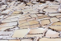 Solankowe kopalnie w Świętej dolinie Incas obraz royalty free