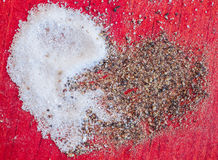 Solankowy pieprzowy serce Zdjęcie Stock