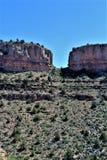Solankowy Rzeczny jar wśród Białej Halnej Apache Indiańskiej rezerwaci, Arizona, Stany Zjednoczone fotografia royalty free