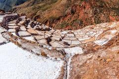 Solankowych kopalni tarasy i baseny, Salineras De Maras Obraz Stock