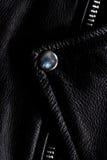 Solapa de cuero de la chaqueta de la motocicleta Foto de archivo libre de regalías