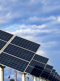 Solar. Power generation, science and technology to life Royalty Free Stock Photography
