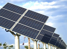 Solar. Power generation, science and technology to life Stock Photo