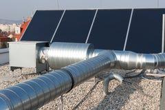 Solar. Alternative technology on the top of a house Royalty Free Stock Photos