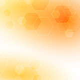 Solar abstract hexagon background Royalty Free Stock Photography