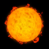 Solar activity Royalty Free Stock Image