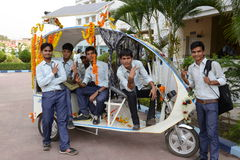 Solar Auto Rickshaw Stock Image