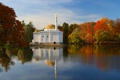 Solar autumn landscape. Autumn landscape with the lake Stock Photos