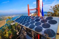 Solar azul en la montaña fotos de archivo libres de regalías
