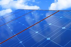 Solar batteries Royalty Free Stock Photos