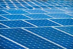 Solar batteries background Stock Photo