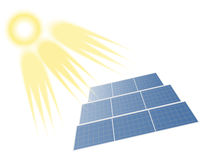 Solar Batteries and  Sun Stock Photography