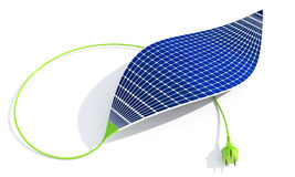 Solar battery. Solar cell in the form of a sheet Stock Photo