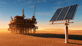 The solar battery Royalty Free Stock Images